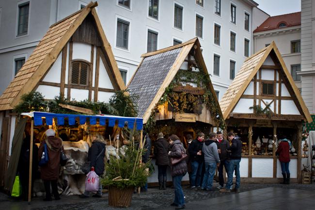 Christmas Market at Wittelsbacherplatz in Munich