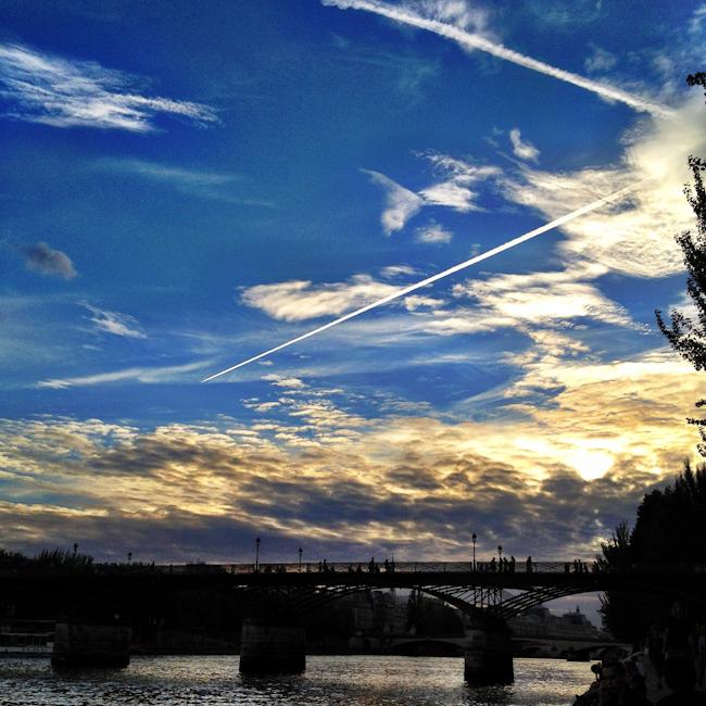 The Pont des Arts at Sunset Plus Some Cloudporn