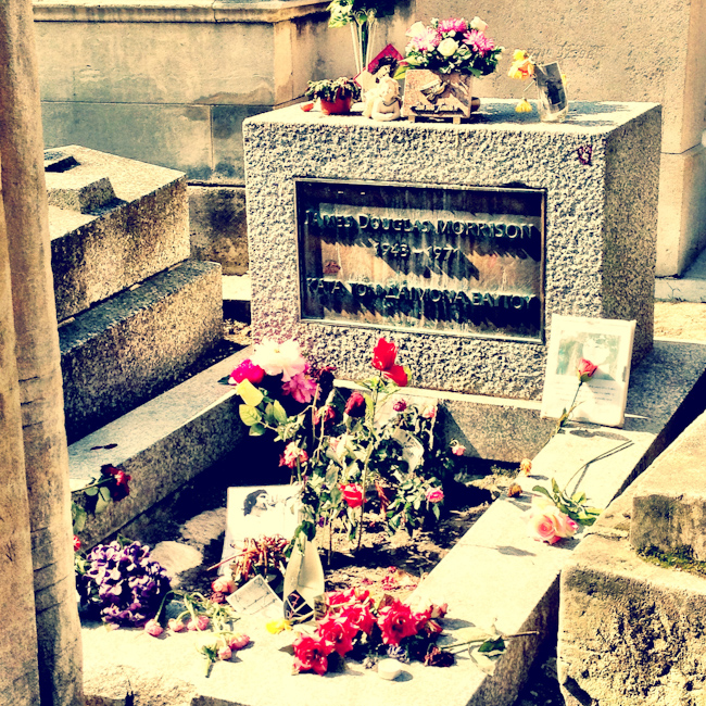 Photo of Jim Morrison's Grave at Pere Lachaise