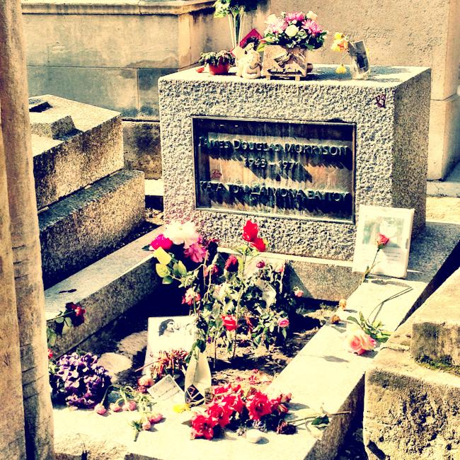 Photo of Jim Morrison's Grave at Pere Lachaise