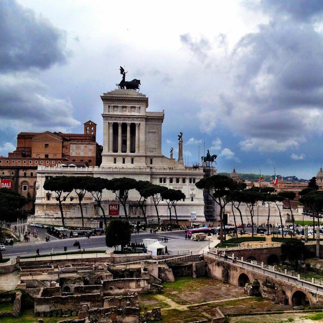 The Victor Emmanuel II Building in Rome