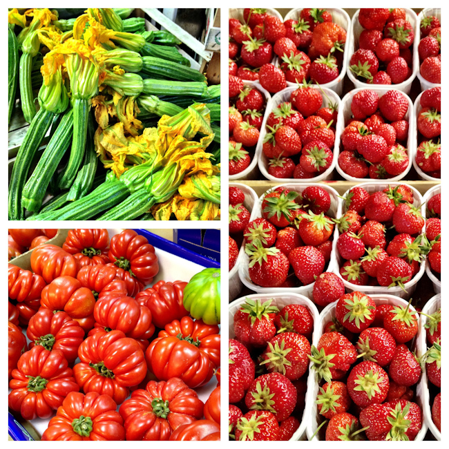 Food Markets in Rome Italy in Spring