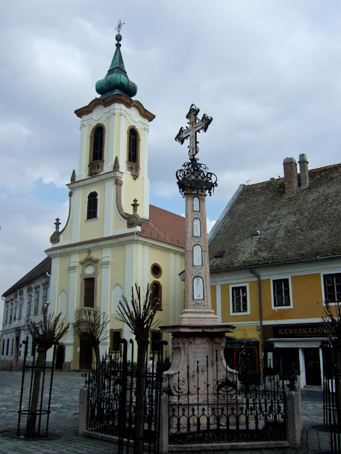One of the many churches in Szentendre Hungary