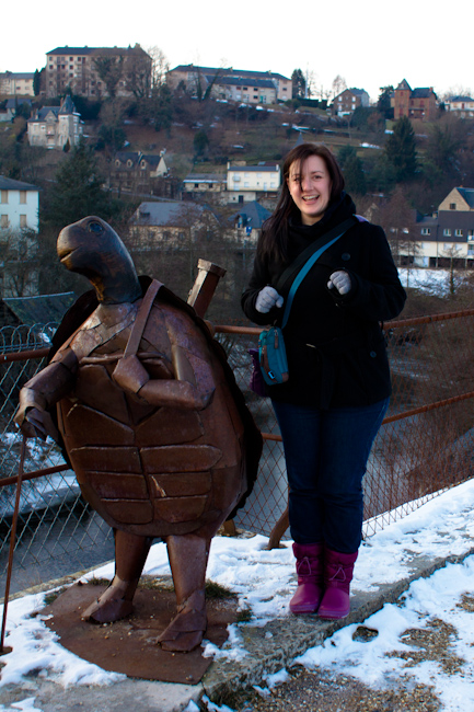 Quirky Turtle Statue in Uzerche