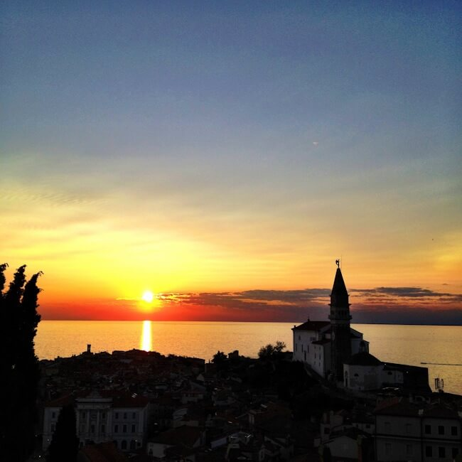 Sunset Over Piran's Old Town