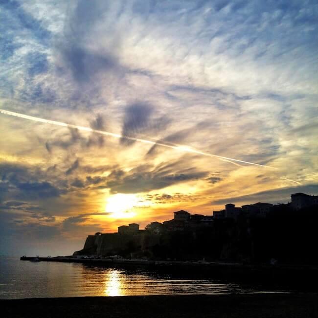 Ulcinj Beach Sunset Montenegro