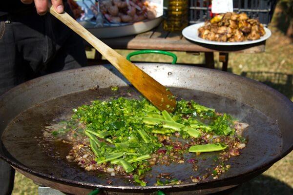 Vegetarian Paella is an Option