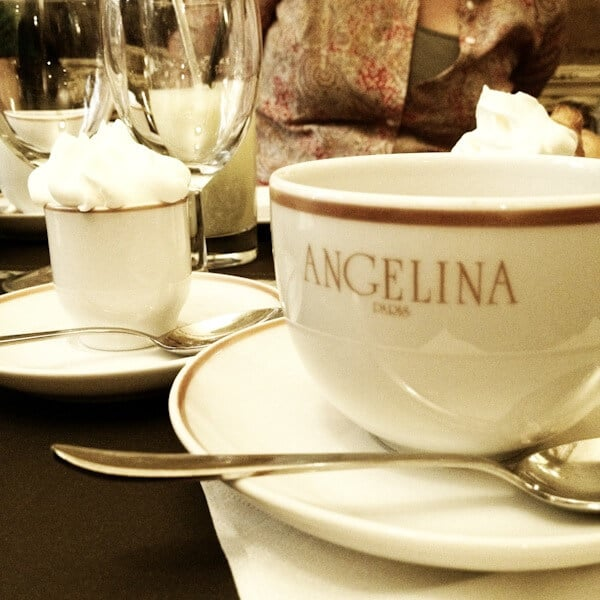 Angelina's Hot Chocolate and Mont Blanc