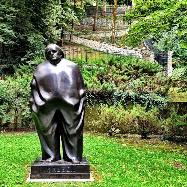 Statue of late Croatian writer Miroslav Krleža