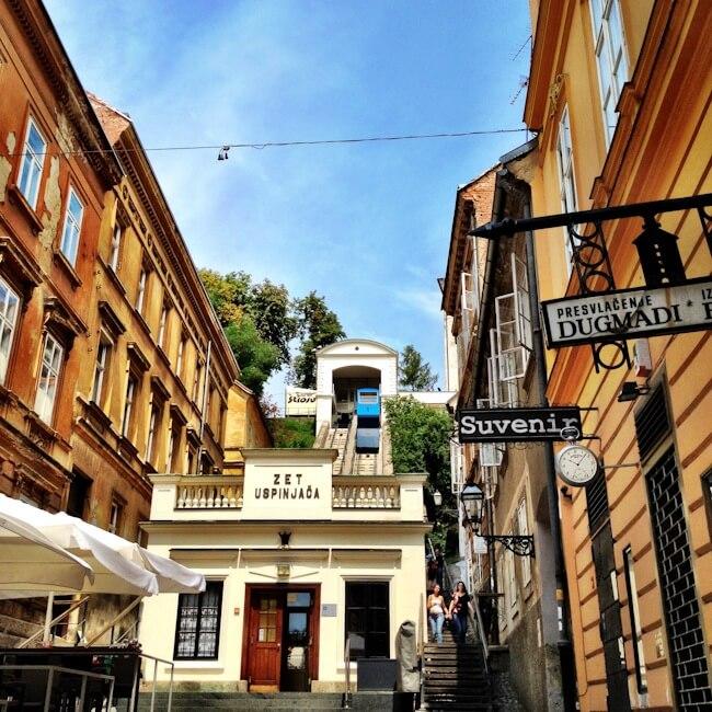 Funicular in Zagreb Croatia