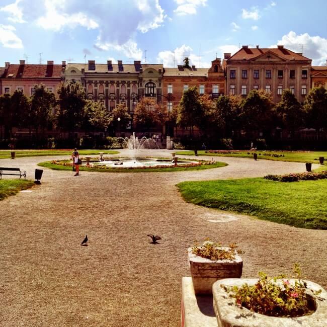 King Tomislav Square in Zagreb Croatia