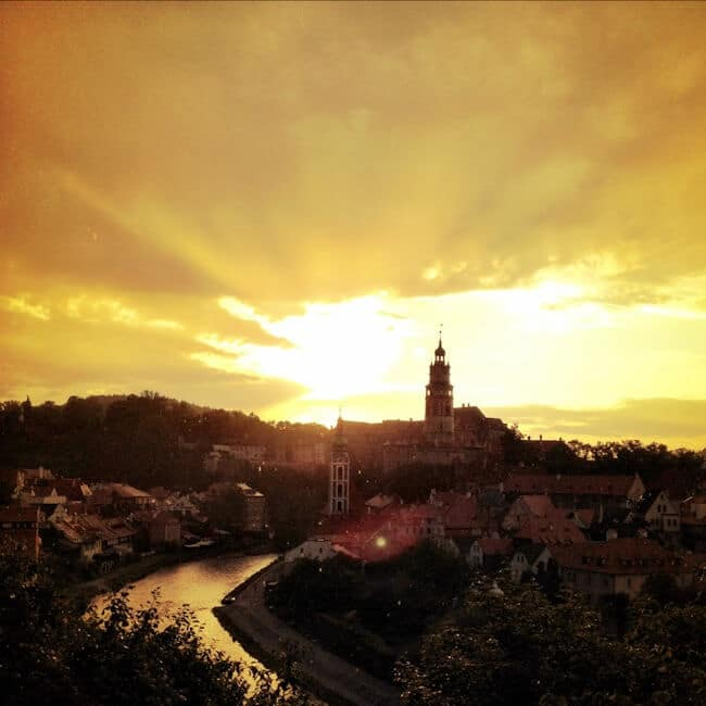 Overlooking Cesky Krumlov near Prague