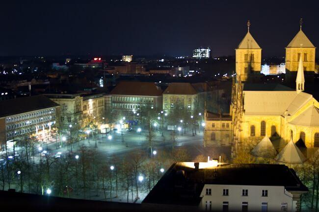 Domplatz in Muenster at Night
