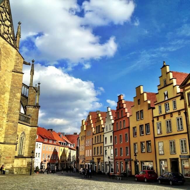 Colourful Osnabrueck Markt - Main Square