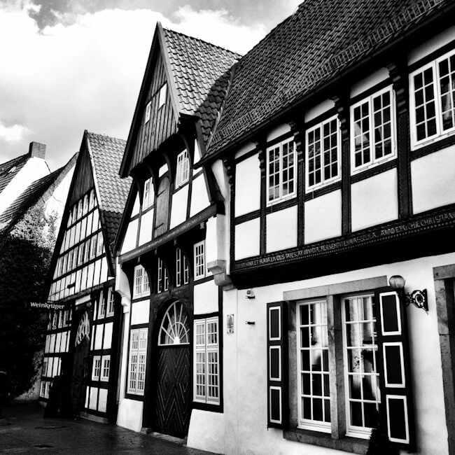 Half-Timbered Houses in Osnabruck