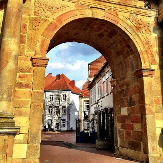 Gate into Osnabrueck Germany