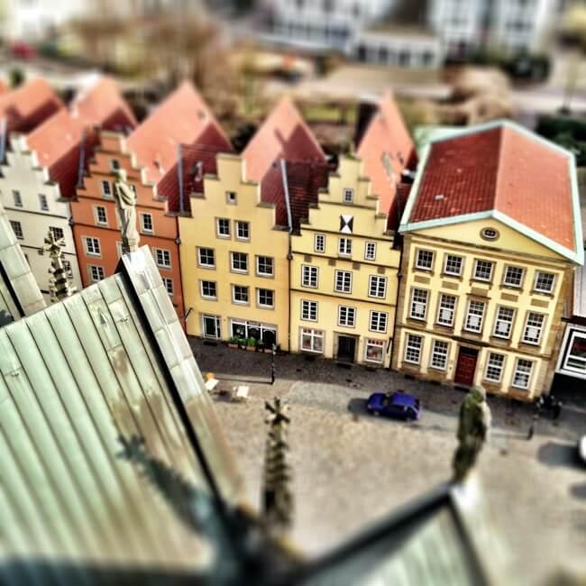Tilt Shift of Osnabrueck Germany