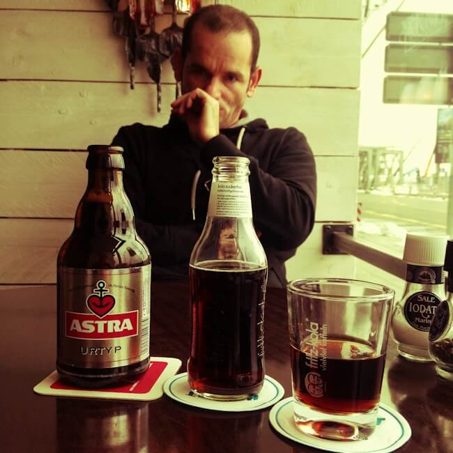 Astra Beer and Fritz Kola from Hamburg