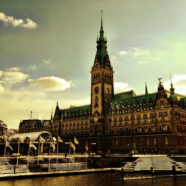 Hamburg Town Hall iPhoneography