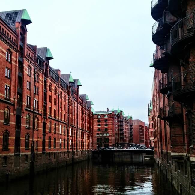 HafenCity District in Hamburg