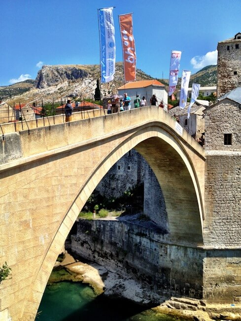 Close Up of the Old Bridge in Mostar