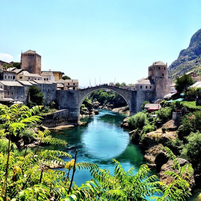 Mostar's Old Bridge in Bosnia & Herzegovina