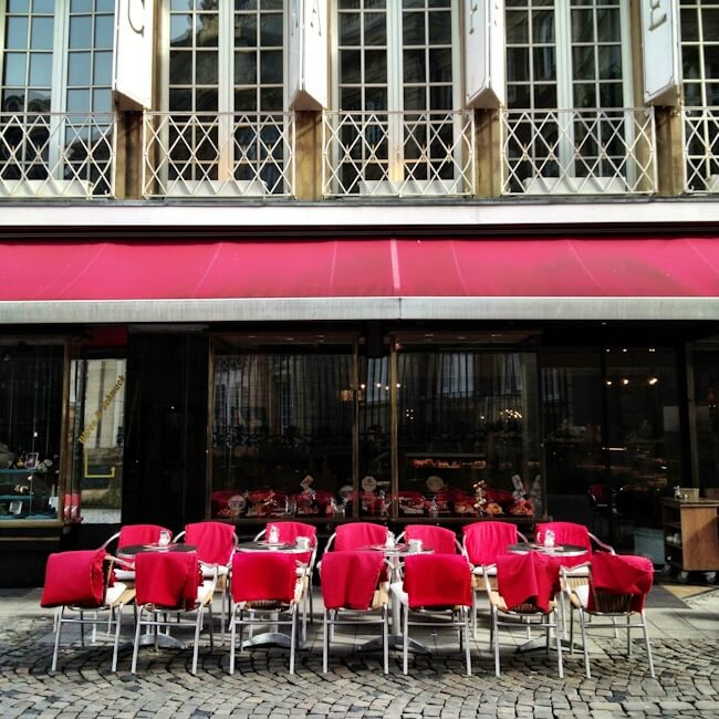 Cafe Blankets in Muenster - Typically German