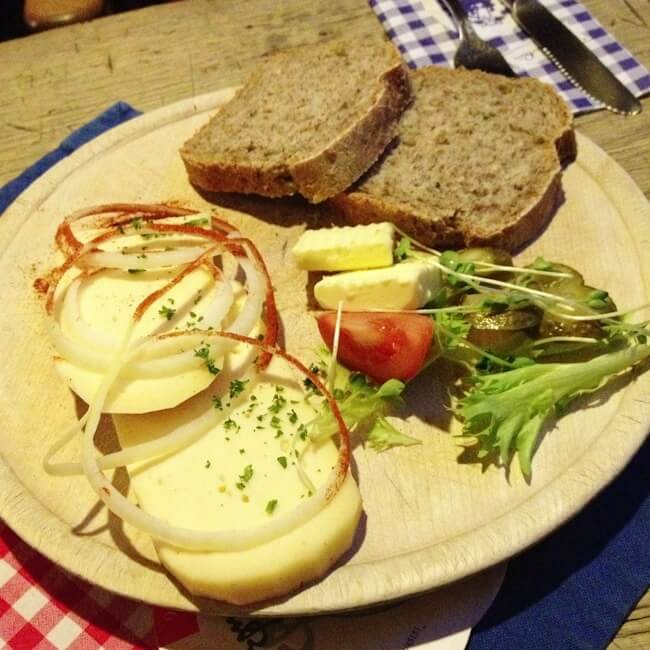 Beer Cheese at Pinkus Brewery Muenster