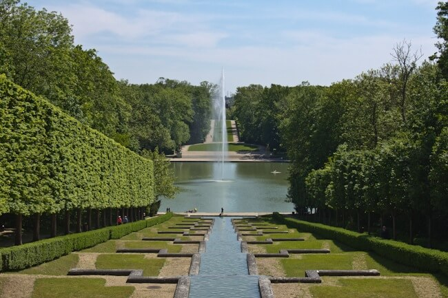 Waterfall and Fountain at Parc de Sceaux