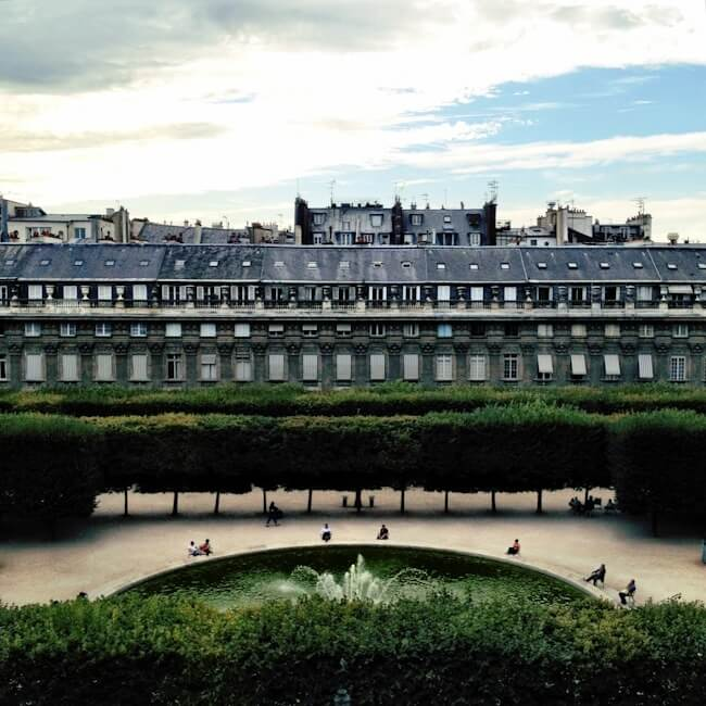 Palais Royal Garden, Paris France