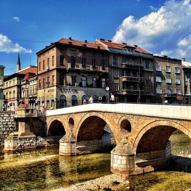 Latin Bridge in Sarajevo Bosnia Herzegovina