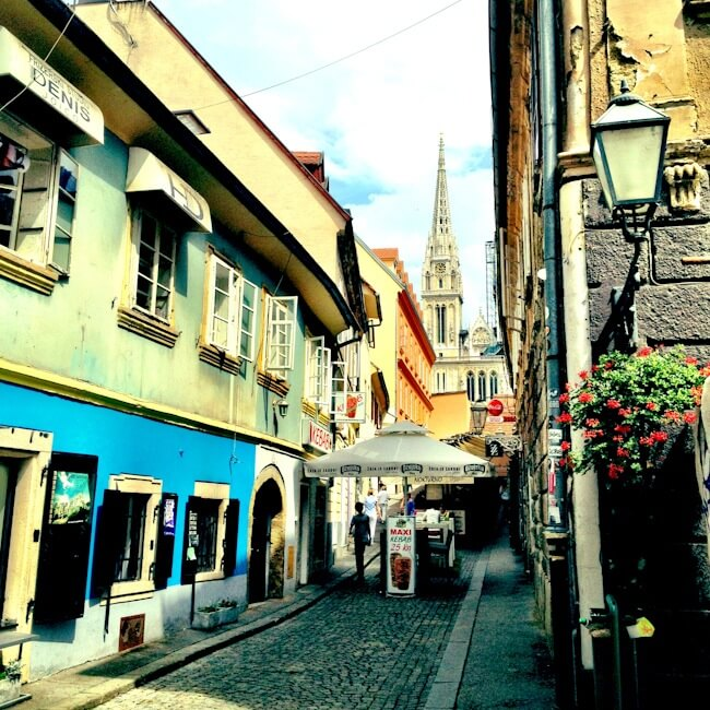 Leaving Zagreb's Old Town for Bosnia
