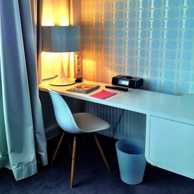 Retro theme hotel room at 25 hours hotel Hamburg