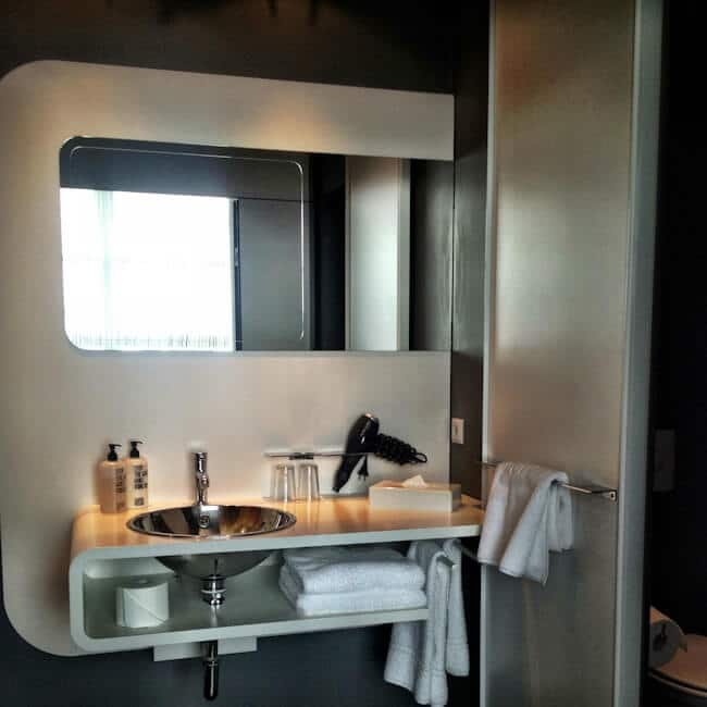 Bathroom in 25hours Hotel Hamburg
