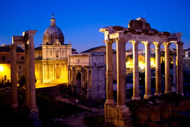 Vespa Tour of Rome - The Roman Forum