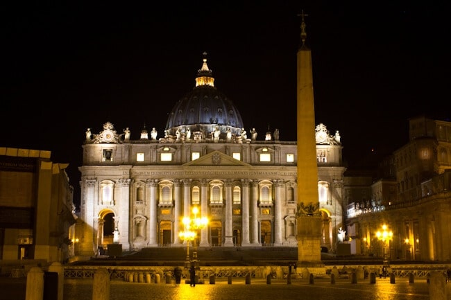 Vatican City at Night: Touring Rome on a Vespa
