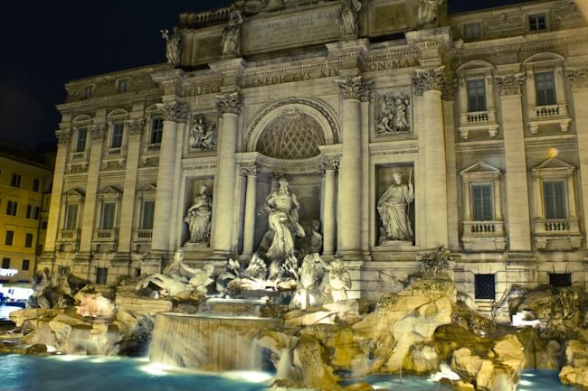 Tour of Rome on a Vespa: Finishing at the Trevi Fountain
