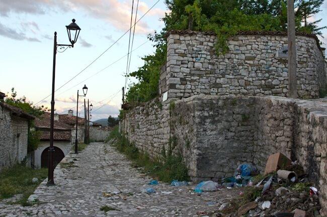 Rubbish in Berat Castle Albania