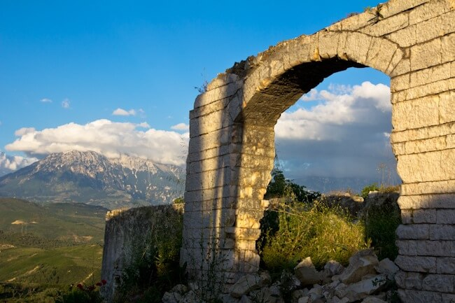 Old Walls in Berat Albania