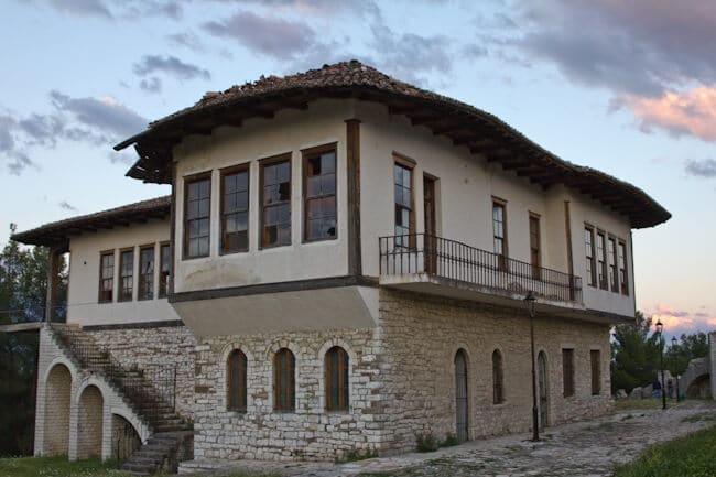 Ottoman Style Buiding in Berat Castle