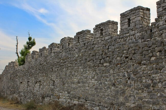 Berat Castle Walls in Albania