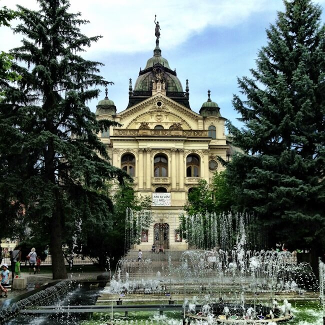 Musical Fountain in Kosice, Slovakia