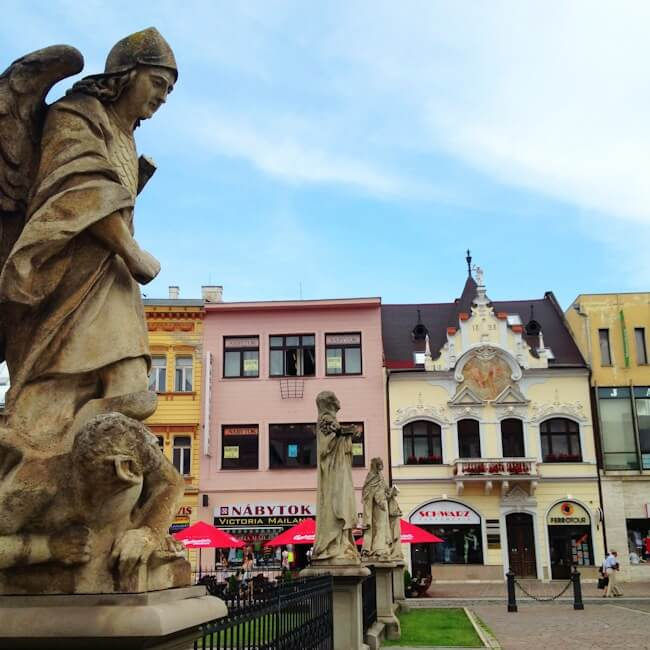 Architecture on the Main Street of Kosice