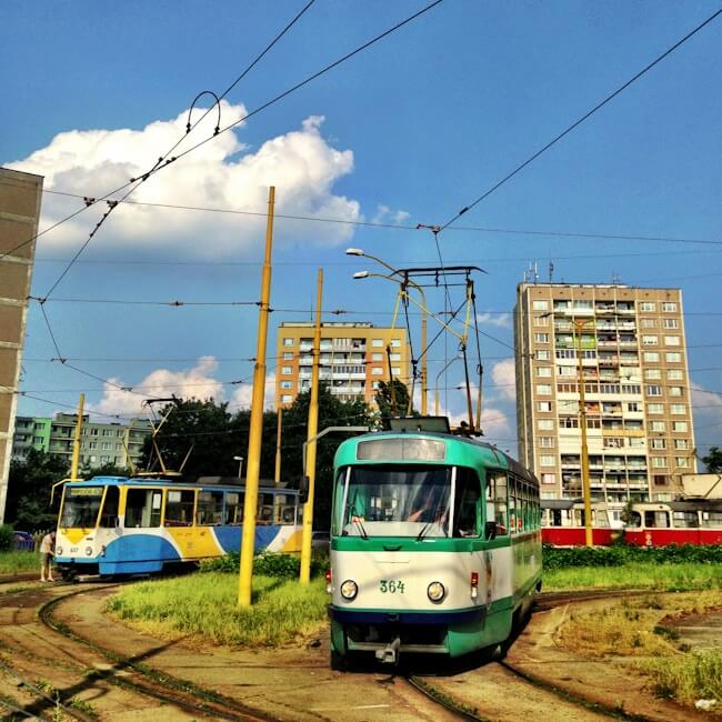 Trams in Kosice, Slovakia