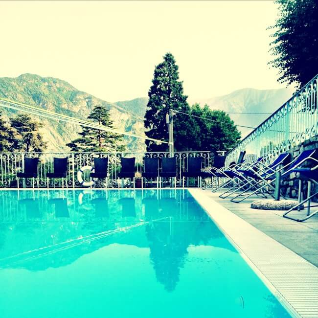 This pool was the best part of Lake Como and seeing my friends of course. Hi guys!