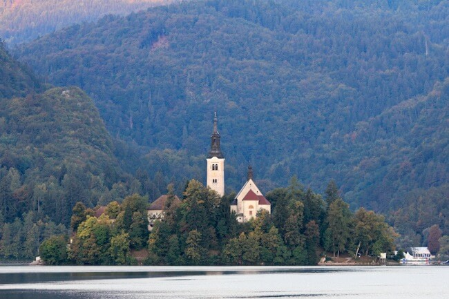 Bled Island in the Early Morning