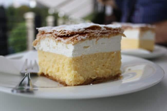 Dessert in Bled Slovenia