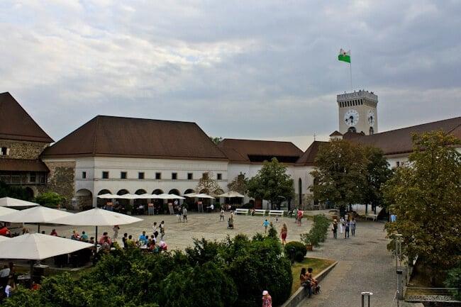 Ljubljana Castle on a Cloudy Day