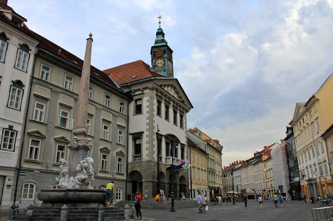 Pedestrian Street in Ljubljana