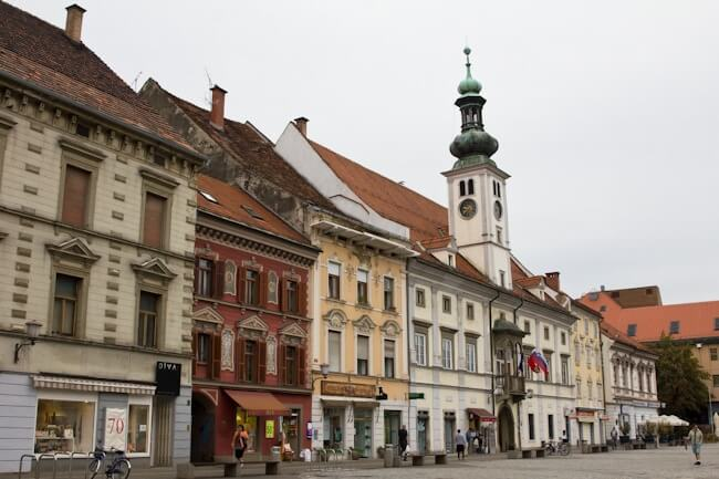 The Main Square in Maribor Eastern Slovenia